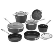 Cuisinart 11 Piece Conical Hard Anozied Induction Cookware Set, Ano