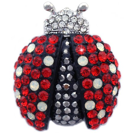 cocojewelry Gorgeous Red Black Ladybug Charm Animal Insect Brooch Pin Women (Dragonfly Animal Brooch Pin)
