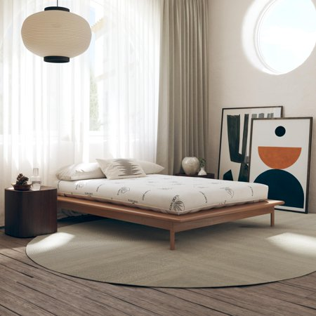 """Signature Sleep Honest Elements 7"""" Natural Wool Mattress with Organic Cotton and Micro Coils"""