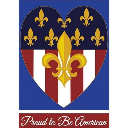 Jozie B 85 Proud to Be American Fleur De Lis Flag, Large - image 1 of 1