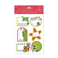 3D Adhesive Hawaiian Holiday Gift Tags - Mele Geck-Imaka