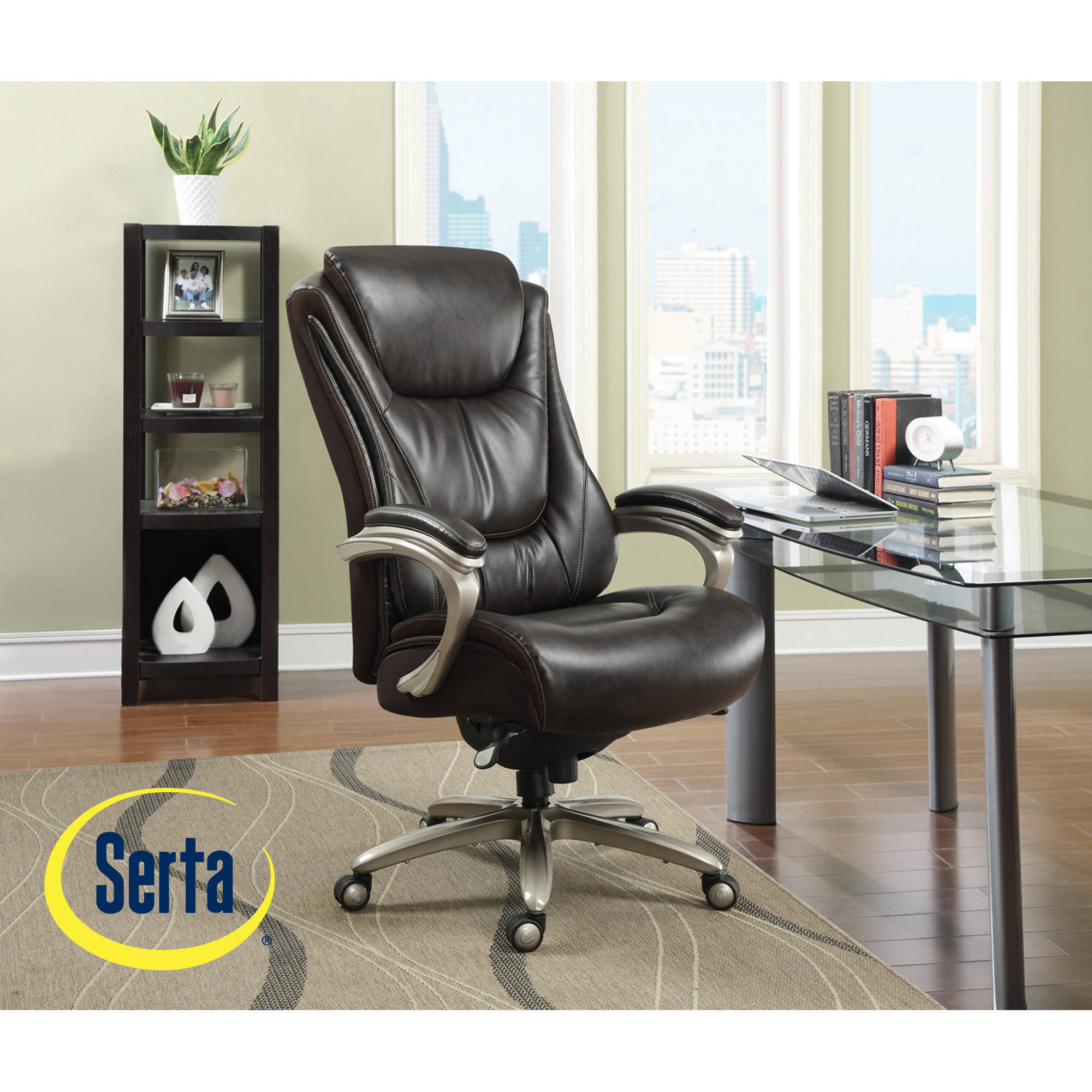 serta big and tall smart layers executive office chair, harmony