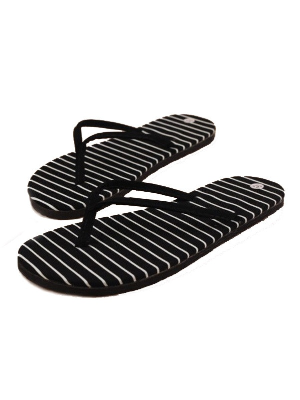 Black Stripe Flat Massage Slippers Summer Beach Slippers Massage Flat Slippers/37 af4fbb