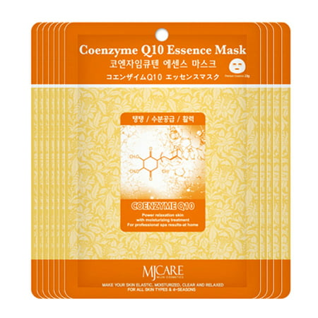 The Elixir Beauty 35 pcs Ultra Hydrating Essence Mask Korean Facial Mask Sheet, Coenzyme Q10 Premium Essence,