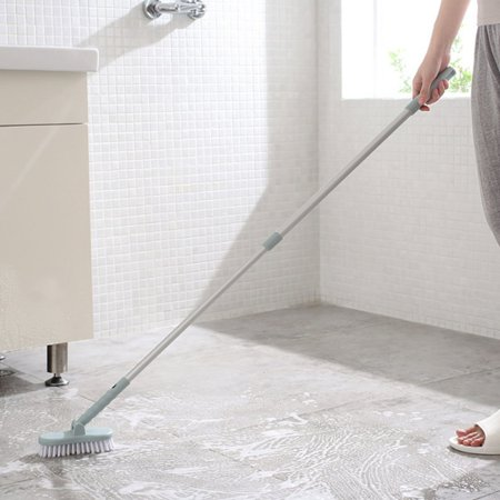 Moaere Adjustable Long Handle Brush Bathroom Wall Floors Scrub Bathtub Tile Cleaning