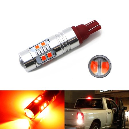 iJDMTOY (1) Strobe/Flashing Feature Red 10-SMD 921 912 LED Replacement Bulb For Chevrolet Dodge Ford GMC Nissan Toyota Truck High Mount 3rd Brake Light