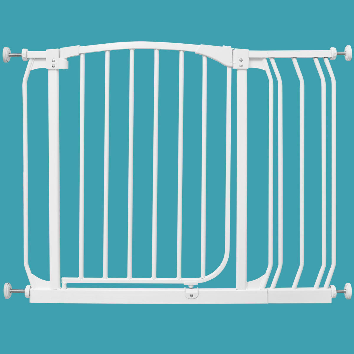 """GHP 28.5""""-33.5""""x30"""" Iron Baby Pets Safety Gate w Easy Locking System & 7"""" Extension by Globe House Products"""