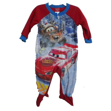 Cars Little Boys' Toddler Footed Blanket Sleeper, Red, Size: 2T