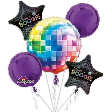 70s Disco Fever Bouquet Of Balloons Multi-Colored](Disco Ball On Stand)