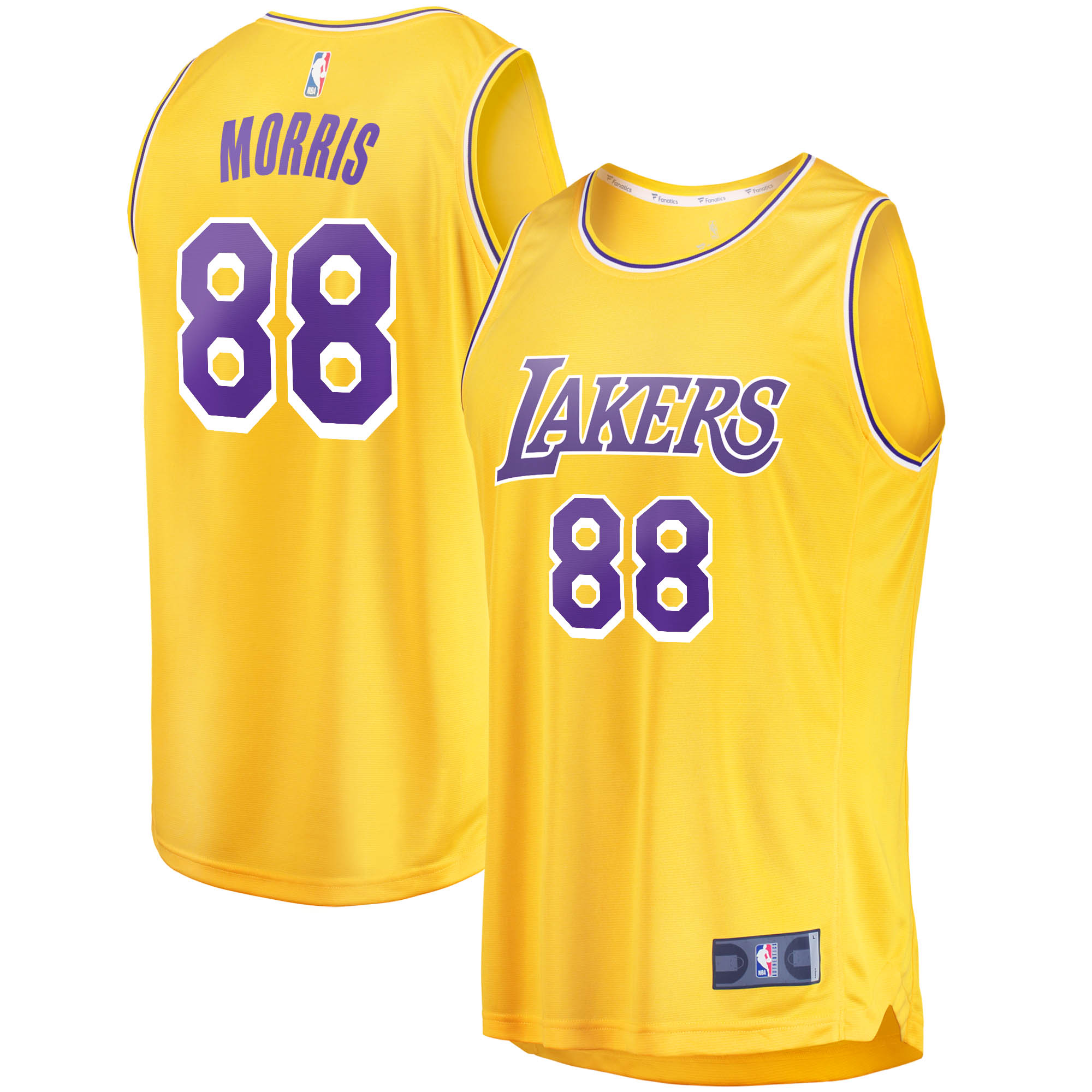 Markieff Morris Los Angeles Lakers Fanatics Branded 2020/21 Fast Break Replica Jersey - Icon Edition - Gold - Walmart.com