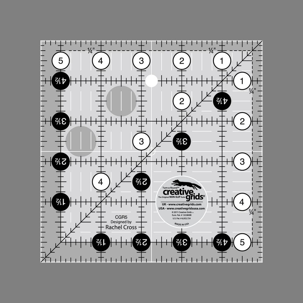 "Creative Grids 5 1/2"" Square Ruler"
