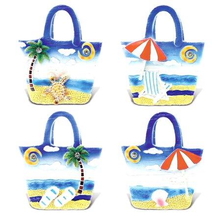 Nautical Ocean Blue Magnet CoTa Global Tropical Beach Bags Nautical Ocean Blue Magnet (4pc Set)