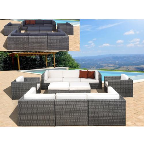 Atlantic  Milano Grey/Off-White 10-piece Sectional