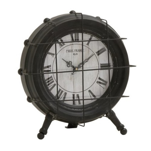 Click here to buy Alluring Metal Table Clock by Benzara.