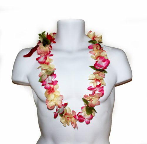 The Cherry Pink Hawaiian Artificial Flower Simple Leis
