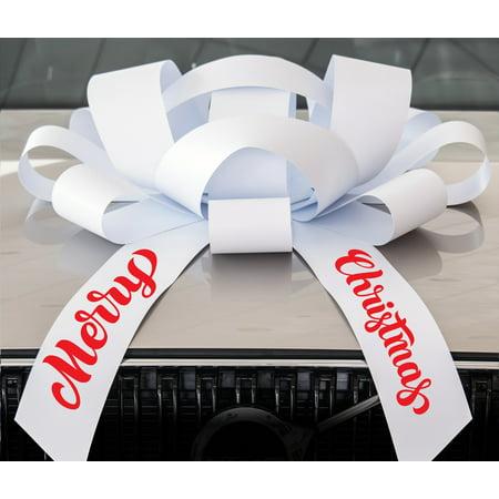Giant Bows (CarBowz Big White Merry Christmas Car Bow, Giant 30