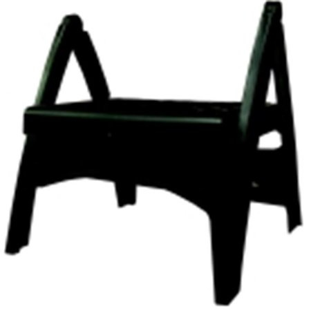 Adams Quick Fold Step Stool - 300 Lbs.  Weight Limit, 8 inch Seat, Black