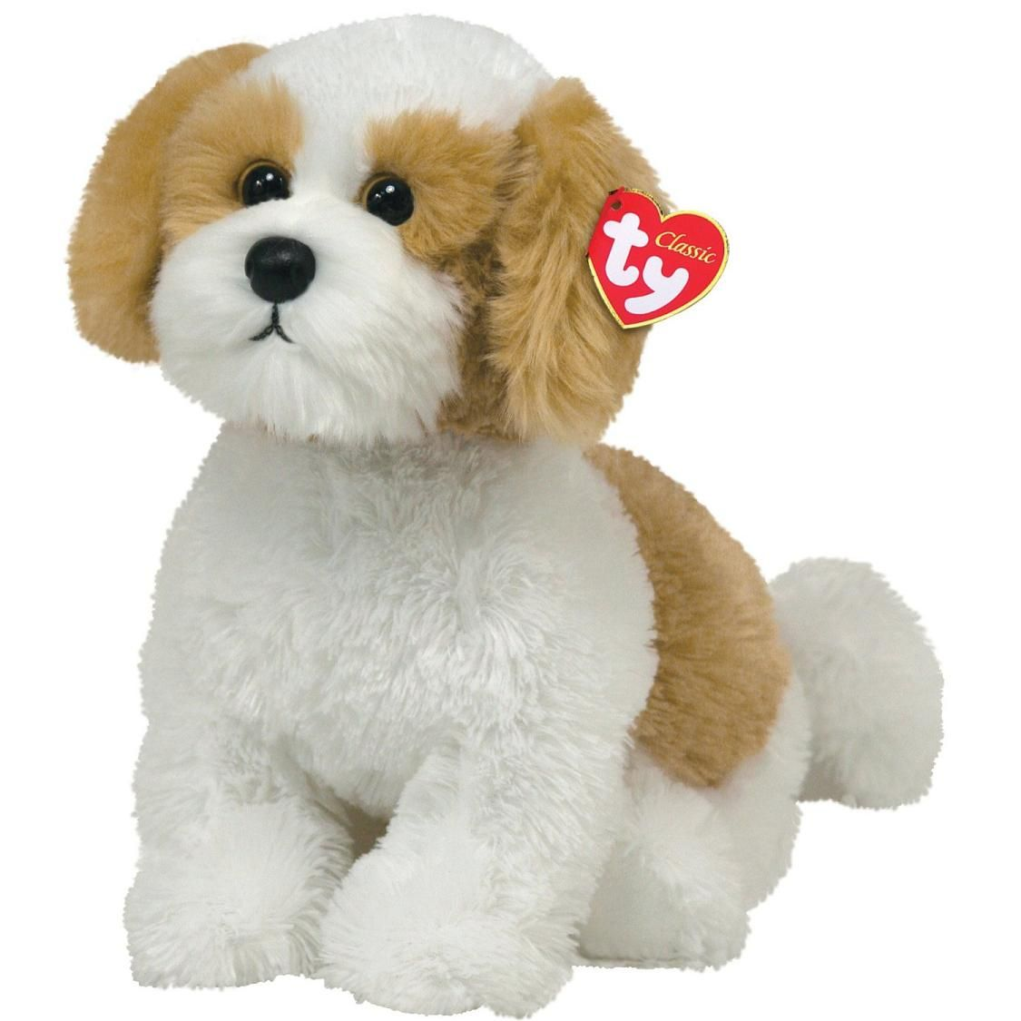 Barley Brown White Dog Dog Puppy Stuffed Animal By Ty 20065