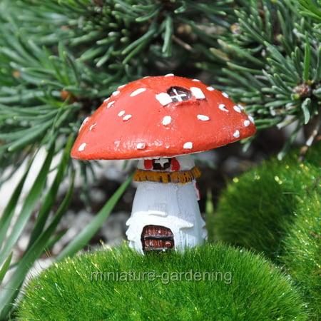 Miniature Micro Fly Agaric Mushroom House with Pick for Miniature Garden, Fairy Garden ()