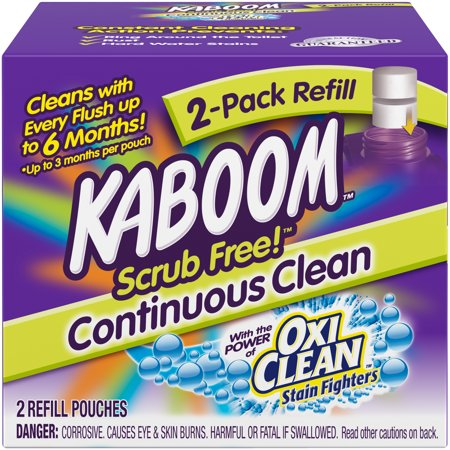 Kaboom Scrub Free! Continuous Clean Toilet Cleaning Refill 2 Pack ()
