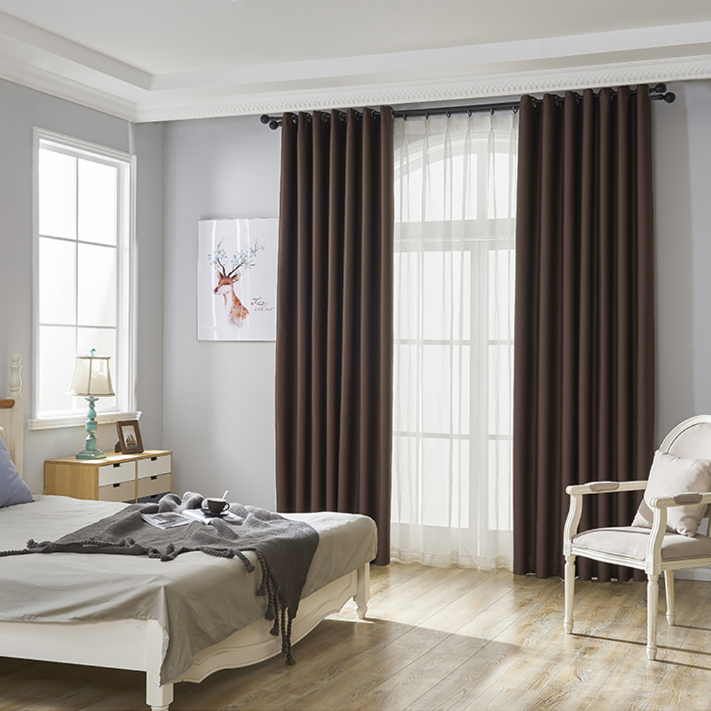Blackout Eyelet Curtains Ready Made Ring Top Living Room Bedroom Window Curtain