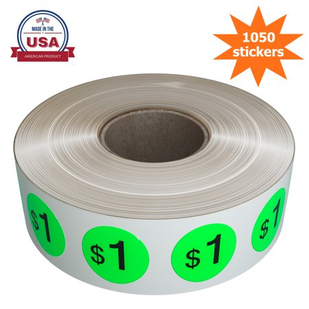- Preprinted Pricing Labels 19mm in Neon Green - Price Stickers Labels in a roll $1.00 Pack of by Royal Green - 1040 Pack …