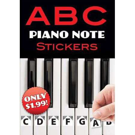 A B C Piano Note Stickers - Halloween Piano Notes