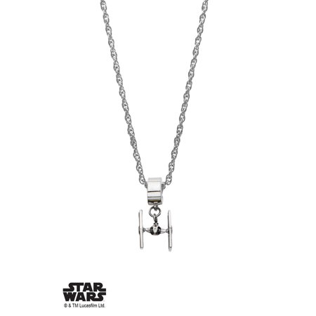 Neck Tie Charm (Stainless Steel Tie Fighter Pandora Style Dangle Charm )