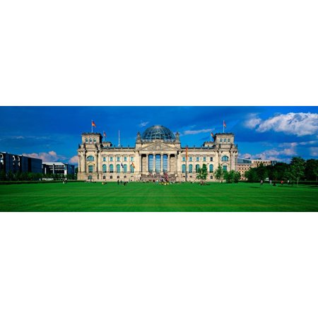 Berlin Government Buildings - Facade of the Government Building, the Reichstag, Berlin, Germany Print Wall Art By Panoramic Images