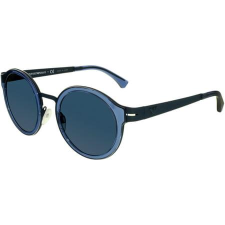Emporio Armani - Emporio Armani Men s EA2029-310080-48 Blue Round  Sunglasses - Walmart.com baf8625794c