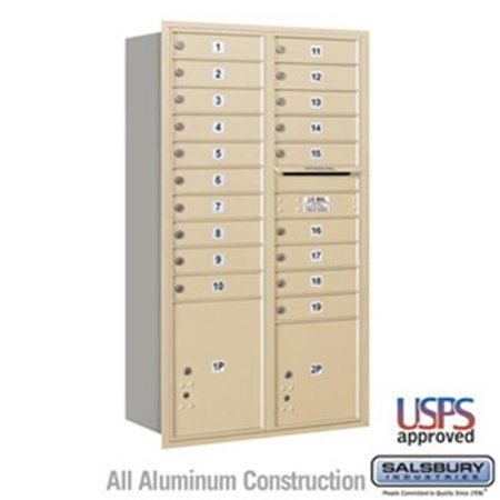 Salsbury Industries 3711S-1CZF 11 Door High Unit 41 in. Front Access Single Column 4C Horizontal Collection Box, Bronze - Jl Industries Access Doors
