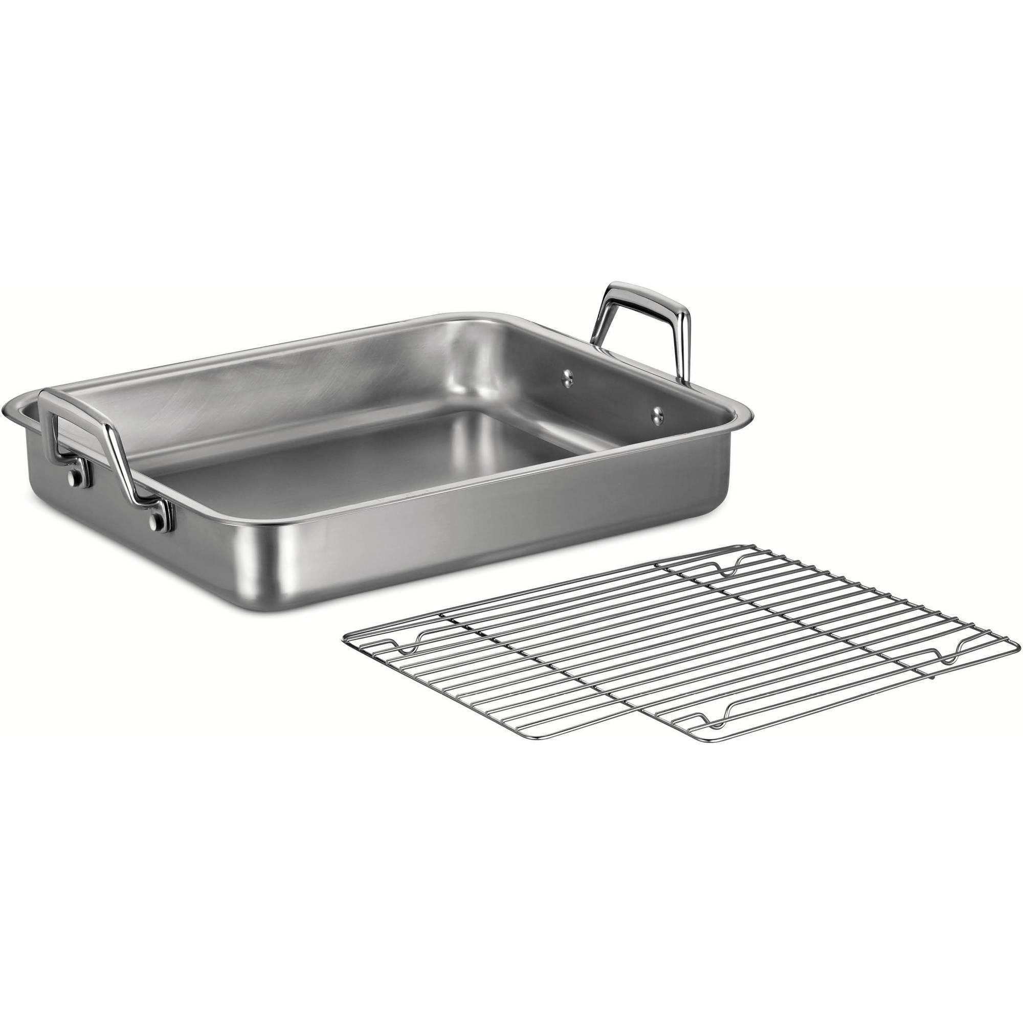 "Tramontina Prima 15"" Roasting Pan with Basting Grill"