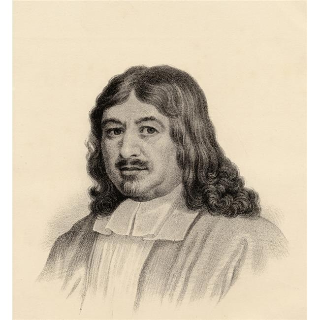 John Bunyan 1628-1688. Author of the Pilgrims Progress From The Lithograph by W.H.Mcfarlane Poster Print, Large - 28 x 30 - image 1 de 1
