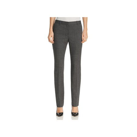 BOSS Hugo Boss Womens Titana Wool Pinstriped Dress Pants