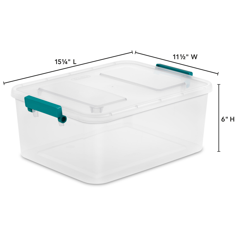 Sterilite 12712 L Qt Modular Latch Box Clear Walmart