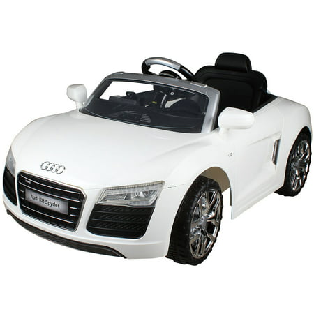Costway White Audi Kids 12V Electric Ride On Car With MP3 RC Remote Control Car ()