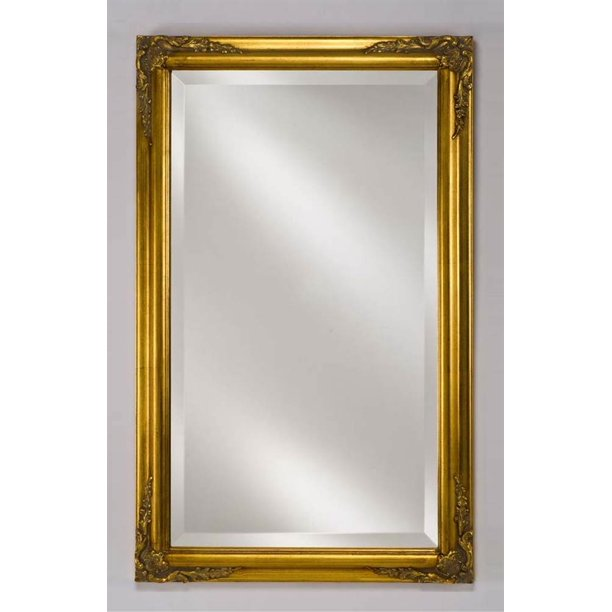 Estate Wall Mirror In Antique Gold, Extra Large Wall Hung Mirror