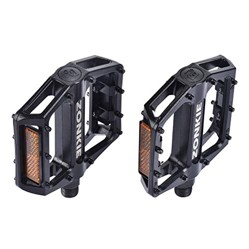 "Mountain Bike Pedals Flat Aluminum Alloy Platform Sealed Bearing 9//16/"" Axle"
