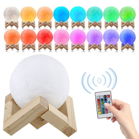Led Half Moon Deck Light (3D Printing Moon Lamp USB LED Night Lunar Light Moonlight Touch Color w/)