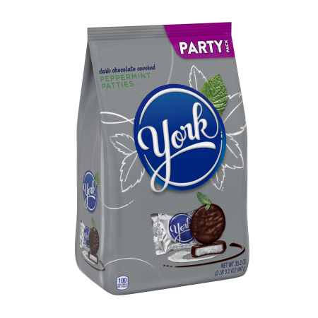 York Peppermint Patties Candy Party Pack, Dark Chocolate, 35.2 Oz.