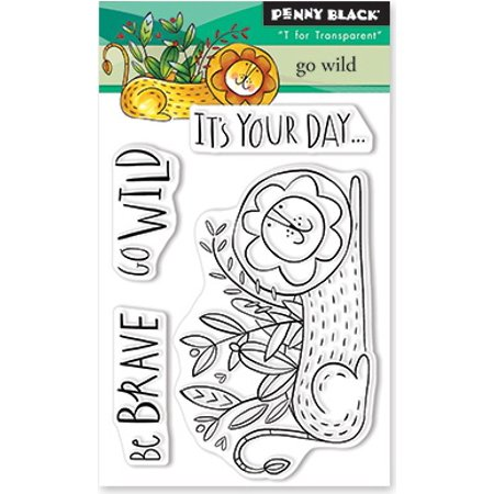 """Penny Black Clear Stamps-Go Wild 3""""X4""""-PB30585 - image 1 of 1"""