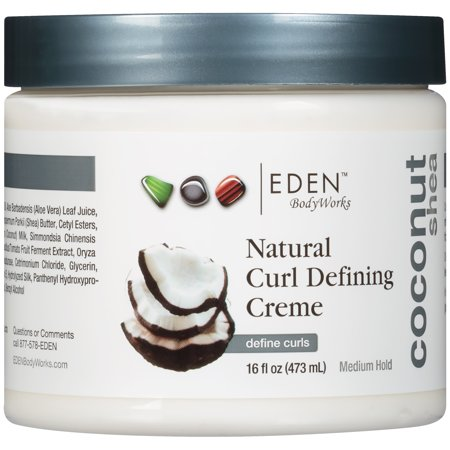 Eden BodyWorks Coconut Shea Medium Hold Natural Curl Defining Crème, 16 fl