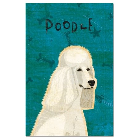Tree-Free Greetings Poodle - white econotes Blank Note Cards-FS64990