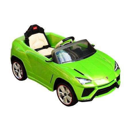 Aosom 12V Lamborghini Urus Kids Electric Ride On Car With Remote Control   Green