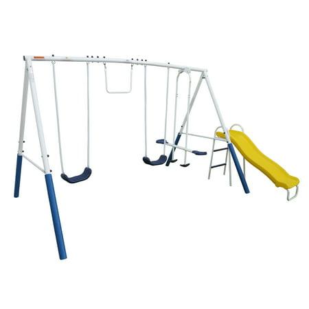 XDP Recreation Blue Ridge Play Outdoor Backyard Playset Kids Swing Set w/ Slide ()