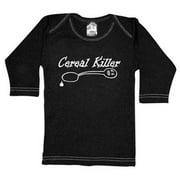 Rebel Ink Baby 359ls612 Cereal Killer- 6-12 Month Black Long Sleeve Tee