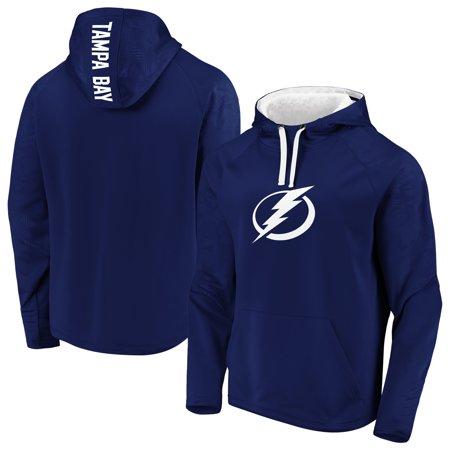 Tampa Bay Lightning Fanatics Branded Monochrome Pullover Hoodie - Blue Tampa Bay Lightning Window