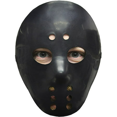 Black Hockey Mask Adult Halloween Accessory - Hockey Mask Halloween