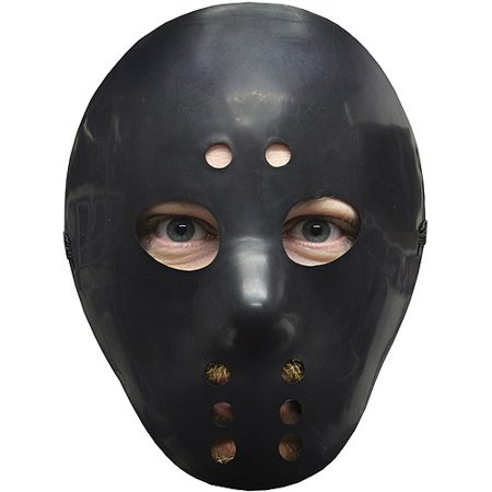 Black Hockey Mask Adult Halloween Accessory](Hockey Players Halloween)