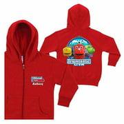 Personalized Chuggington Traintastic Crew Kids' Red Zip-Up Hoodie